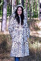 Шуба из стриженой нутрии (окрас полинезийский кот)