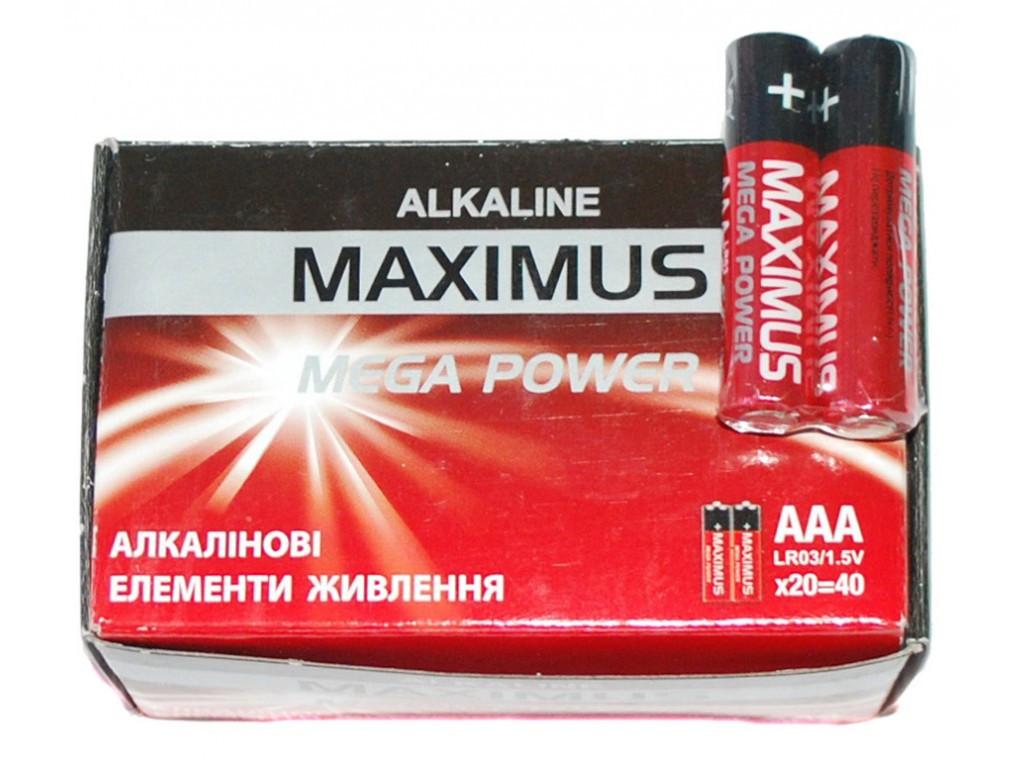 Батарейка Maximus алкалайн R03 микро пальчиковая AAA ( Максимус )