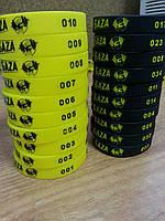 Нанесение уникальной нумерации на силиконовые браслеты