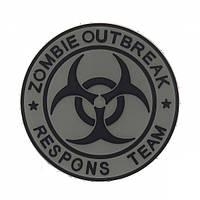 Патч 3D PVC Zombie outbreak response Team Gray