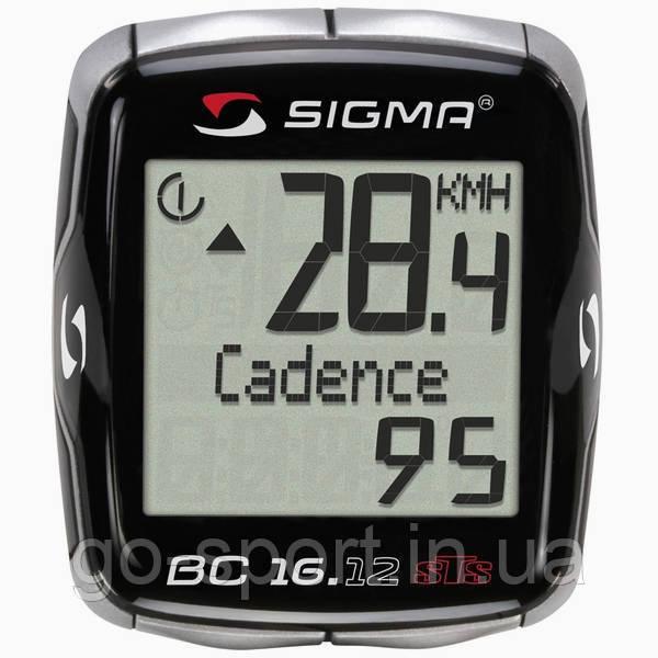Велокомпьютер Sigma Sport BC 16.12 STS, CAD Беспроводной