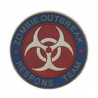 Патч 3D PVC Zombie outbreak response Team Red