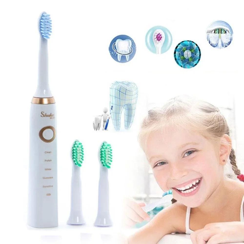 Електрична зубна щітка з 4 насадками, 5 режимів роботи Shuke SK-601