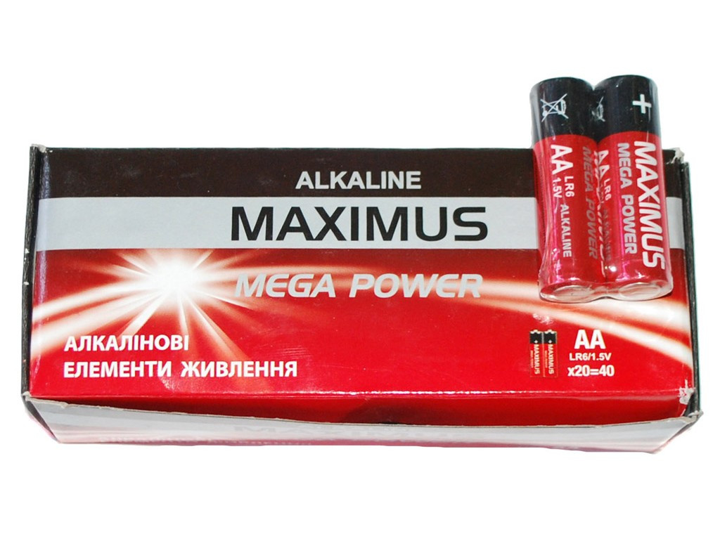 Батарейка Maximus алкалайн R06 пальчиковая AA 1.5V ( Максимус )