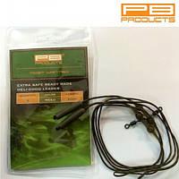 PB Products Ледкор PB PRODUCTS HELI CHOD LEADER 60cm (2шт) (Ледкор PB PRODUCTS HELI CHOD LEADER 60cm Weed (водоросль), 2 шт. )