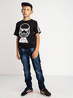 Стильные однотонные джинсы Vigoocc 7070. Размер 26 (на 11-12 лет, есть замеры), фото 1
