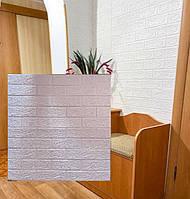 Самоклеючі шпалери цегла 3d ПВХ декоративна 3д панель самоклейка 5мм білий цегла 3д самоклейки