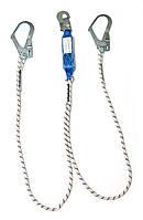 Двойной строп с амортизатором и тремя карабинами