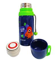"""Набор """"Jolliers Монстрики"""" ТМ Kite. Детский термос для питья и Ланчбокс (контейнер) с приборами, для мальчика, фото 3"""