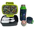 """Набор """"Jolliers Монстрики"""" ТМ Kite. Детский термос для питья и Ланчбокс (контейнер) с приборами, для мальчика, фото 5"""