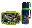 """Набор """"Jolliers Монстрики"""" ТМ Kite. Детский термос для питья и Ланчбокс (контейнер) с приборами, для мальчика, фото 6"""
