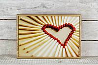 Поднос на подушке Сердце
