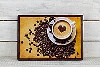 Поднос на подушке Кофейное сердце, фото 1