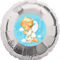 Наклейка на воздушный шарик с рисунком Ангелочек, 140 мм