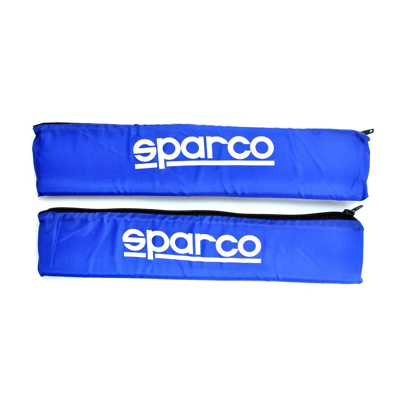 """Подушка на ремінь безпеки""""Sparco"""" Синя (2шт)"""