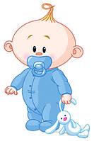 Наклейка на воздушный шарик Карапуз мальчик, наклейки на выписку из роддома, 30х21см