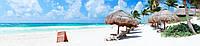 Стеклянный фартук для кухни - скинали Море Пляж