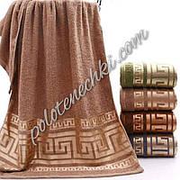 Махровое лицевое полотенце Золотой меандр (8)