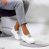 Жіночі мокасини /кросівки без шнурівки білі натуральна шкіра, фото 9