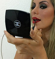Универсальное зарядное устройство пудреница Power Bank Chanel 10400 mAh (черный)