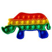 Опт Pop It Антистресс Игрушка - (Поп Ит - Попит - Popit) - Радужный Носорог