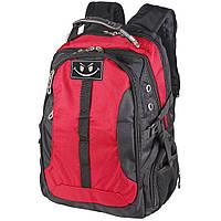 Міський рюкзак чорний з червоним для ноутбука VR9388R, фото 1