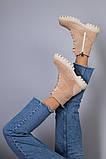 Демісезонні черевики жіночі замшеві бежеві, фото 8