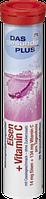 Вітамін залізо+С Das gesunde Plus Eisen + Vitamin C Brausetabletten, 20 St