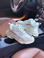 Кроссовки женские Balenciaga Triple S White Обувь Баленсиага белые модные молодежные