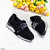 Стильні жіночі кросівки в чорному кольорі натуральна замша, фото 6