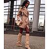 Пальто женское демисезонное кашемировое P436