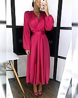 Елегантне плаття з імітацією запаху з шелка❤
