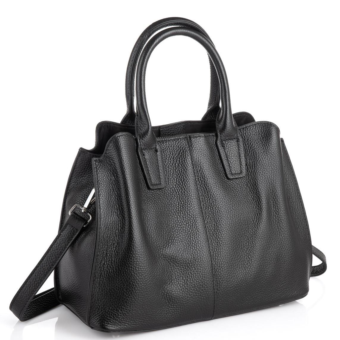 Черная женская сумка из натуральной кожи Riche F-A25F-FL-89031WA