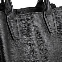 Черная женская сумка из натуральной кожи Riche F-A25F-FL-89031WA, фото 5