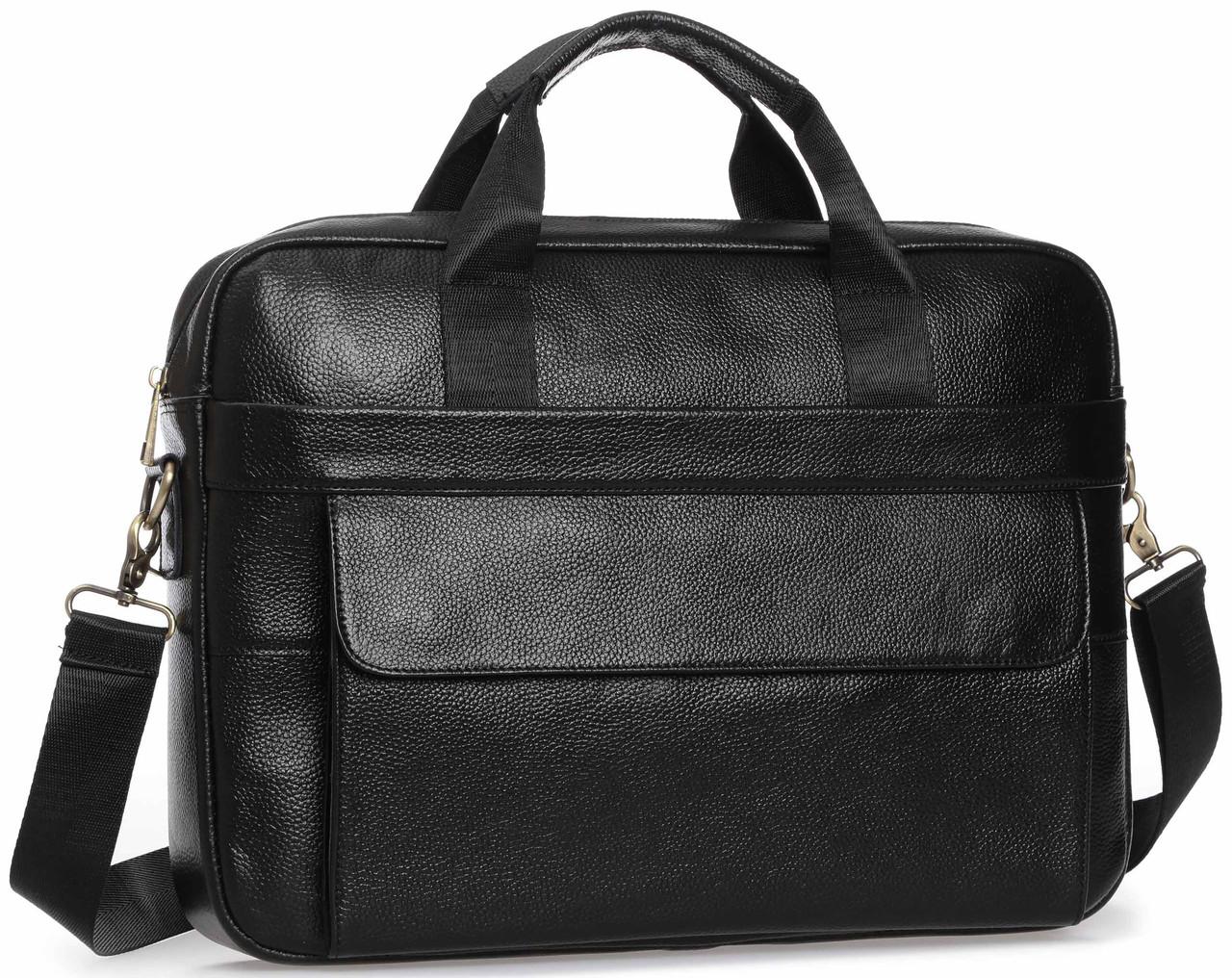 Сумка-портфель мужская кожаная для документов Tiding Bag A25-1131A