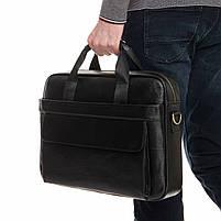 Сумка-портфель мужская кожаная для документов Tiding Bag A25-1131A, фото 2