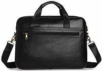 Сумка-портфель мужская кожаная для документов Tiding Bag A25-1131A, фото 5