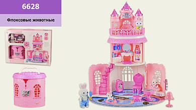 Игровой набор с флоксовыми животными 6628 Замок, в наборе 2 фигурки, в коробке 51*17*38см, р-р
