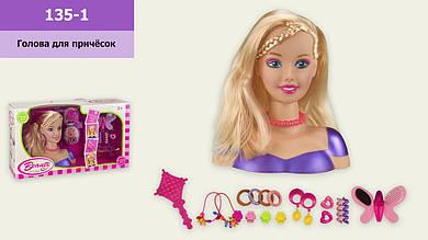 Голова для зачісок 135-1(1911267)з аксесуарами, р-р іграшки– 18*8.5*19.5 см, в кор.42,5*