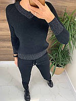 Кашемировый вязанный костюм с люрексом