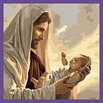 Дети, ангелы, святые на картинах