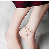 "Браслет двошаровий на ногу-анклет ""Твоя таємниця"", золотистий, фото 5"