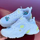 Стильні білі міські кросівки skechers, фото 9