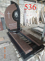Памятник из токовского гранита и габбро, фото 1