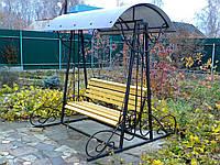 Кованная скамейка для сада
