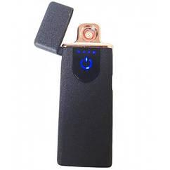 Спіральна електрична USB запальничка ZGP 68 Чорна