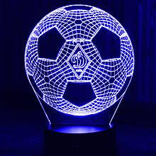 Акриловий світильник-нічник м'яч ФК Динамо синій tty-n000398