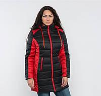 Женская зимняя куртка 2-х цветная №15 (длинная)