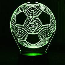 Акриловый светильник-ночник Мяч ФК Динамо зеленый tty-n000399
