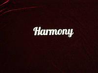 Слово Harmony (25 х 6.5 см), декор